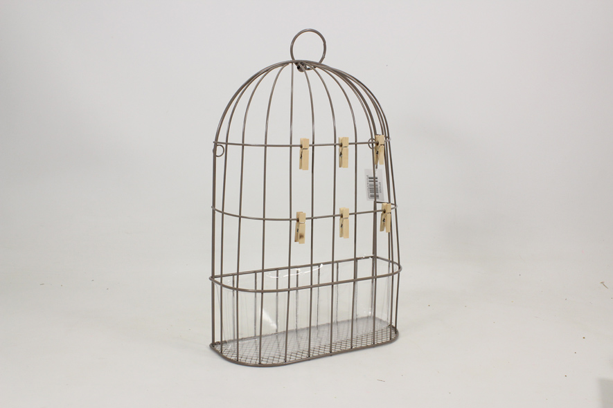 Cage porte photo en métal grillagé - Planète Import